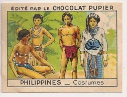 """Image N° 220 De L´album """"L´Asie"""". 1938. Chocolat Pupier. Philippines Costumes - Chocolate"""