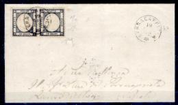 Serracapriola 00744 - Bella Coppia Del N. 19c - Due Perizie - - Storia Postale