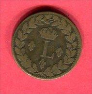 LOUIS XVIII  DECIME. 1815.BB TB 25 - France