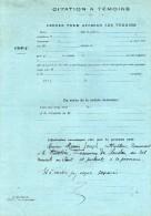 SOUDAN  (44)   La Grande Verrerie - La Binotère -  Citations à Témoins  Suite Plainte  De Mr Georget Cultivateur. - Old Paper