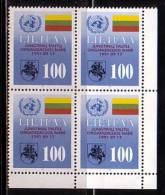 LITUANIE - 1991 - Admission Des Nations Unies  - Bl De 4 ** - Lithuania