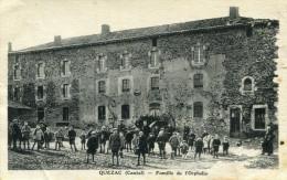 QUEZAC - Famille De L'Orphelin Nimbreux Pensionnaires Sur Cour Soldat Du 44 ème Régiment écrit à L'abbé Aumônier D'ici - Autres Communes