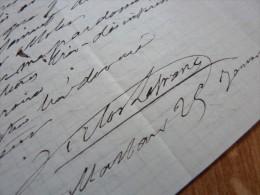 Victor LEFRANC (1809-1883) - Député LANDES -Ministre De L´Intérieur - Autographe - Autografi