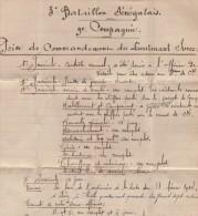 3e Bataillon Senegalais - Prise De Commandement Du Lieutenant Surre - Document D Un Page - 1914 - Vieux Papiers