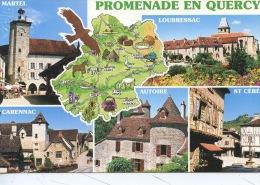 Promenade En Quercy Géographique Martel Carennac Loubressac Autoire St Céré - Multivues N°185 France Regard - Autres Communes