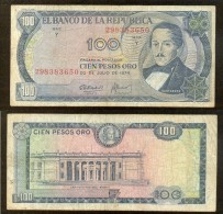 Colombia 100 Pesos 1974 Pick-415 Ref D9 - Colombia