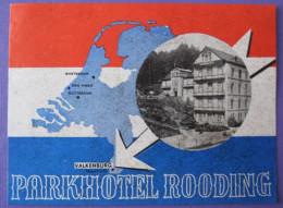 HOTEL RESIDENCE MOTEL MAP PARK ROODING VALKENBURG HOLLAND NETHERLANDS DECAL STICKER LUGGAGE LABEL ETIQUETTE AUFKLEBER - Hotel Labels
