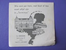 HOTEL RESIDENCE MOTEL TERMINUS GOES STATION HOLLAND NETHERLANDS DECAL STICKER LUGGAGE LABEL ETIQUETTE AUFKLEBER - Hotel Labels