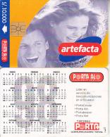ECUADOR - Artefacta, Calendar 1998, Chip GEM1, Used