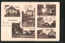 AK Simmershofen, Schulhaus, Postagentur & Gendarmerie-Station Mit Pfarrhaus - Germany