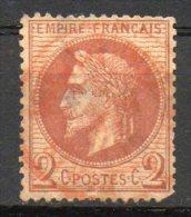 FRANCE - 1863-70 - Napoléon III, Lauré - N° 26A - 2 C. Rouge-brun - (Oblitération : Timbre à Date Rouge Des Imprimés) - 1863-1870 Napoléon III. Laure
