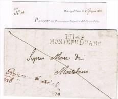 Départements Conquis. PP114 MONTEPULCIANO. 8.6.1813. + Procureur Impérial Trib De Montépulciano. - Marcofilie (Brieven)