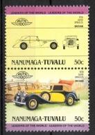 Tuvalu Nanumaga 1984 - Alvis Speed 25 Auto Car MNH ** - Tuvalu