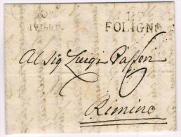 Départements Conquis. 117 FOLIGNIO 41.9.1810. + 30è Division. Taxe 6d. - Marcofilie (Brieven)