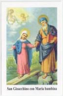 SANTINO MODERNO - HOLY CARD - SAN GIOACCHINO Con MARIA BAMBINA - Devotieprenten