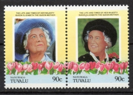 Tuvalu Nanumaga 1985 - Regina Madre Elisabetta Queen Mother Elizabeth MNH ** - Tuvalu
