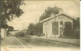 CPA  CADAUJAC La Gare 11425 - France