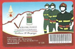TESSERA FILATELICA ITALIA - 2010 - Primo Raduno Nazionale Dei Vigili Del Fuoco - 1946-.. République