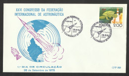 Portugal 1975 Congrès Fédération Internationale Astronautique FDC Cachet Funchal Madère Madeira FDC Astronautics - FDC & Gedenkmarken