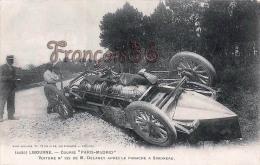 """(33) Libourne - Course """"Paris Madrid"""" Voiture N°125 De M.Delaney Après Le Panache A Simoneau  Automobile- TTBE   2 SCANS - Libourne"""