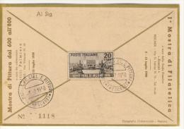 1950 Fiera Di Milano 20 Lire In Tariffa Lettera Su Cartolina Di Manifestazione - 6. 1946-.. Repubblica