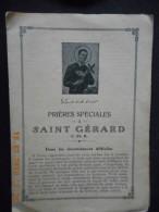Carnet De PRIERES SPECIALES à SAINT GERARD (16 Pages) - Religion & Esotericism