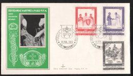 FDC Vaticano Papa Paolo VI  In Uganda 1965    3 Valori - FDC