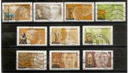 """France 2007 Oblitéré  Autoadhésif  N° 104  à  113  Ou  N° 4002  à  4011   Série Art   Antiquités  """" - France"""