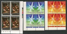 Noël A L´ile Christmas.  3 Blocs De 4 T-p Neufs ** Adoration Des Bergers (tableau École De Séville) - Christmas Island