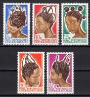 ZENTRALAFRIKA 1967 ** Traditionenelle Damenfrisuren - MiNr.138-142 Kompl. Satz MNH - Kulturen