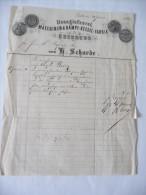 Alte Rechnung Zeitz 1868  Eisengießerei   Sammlungsauflösung - Zeitz