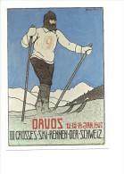 11761 - Reproduction D´affiche Davos III Grosses Ski Rennen Der Schweiz 1907 (Format 10X 15) - GR Grisons
