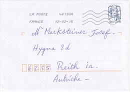 Auslands - Brief Von 29360 Clohars Carnoet - 46130A Mit Europe 20 G 2015 - Frankreich