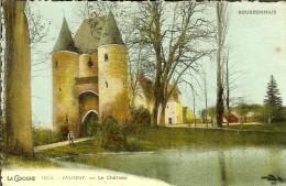 1073 La Cigogne - Jaligny Le Chateau -  Timbre Et Cachet 1949 Verso - France