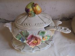 Décoration Salle à Manger - Soupière - Louche - Plat - Roses En Décor - - Autres
