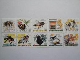 Suède 1990 Yv 1591 / 1600 **  Bees - Abeilles  --   Scott 1819 / 1828 -- - Neufs