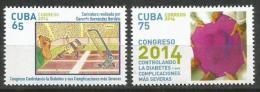 Cuba 2014 Diabetes Summit. Sugar Illness 2v MNH - Cuba