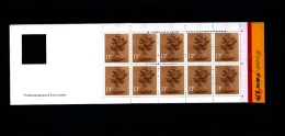 GREAT BRITAIN - £. 1.30  WINDOW  (Harrison)  ROUND TABS  Code H   BOOKLET MINT NH  GI 1b - Booklets
