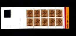 GREAT BRITAIN - £. 1.30  WINDOW  (Harrison)  ROUND TABS  Code G   BOOKLET MINT NH  GI 1a - Booklets