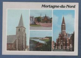 59 NORD - CP MULTIVUES MORTAGNE DU NORD - EDITIONS ET IMPRESSIONS COMBIER MACON - CIRCULEE EN 1990 - France