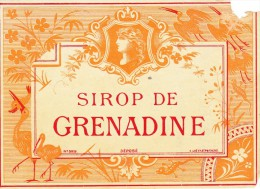 ETIQUETTE SIROP Grenadine GUE N° 329 Poitiers SCAN VERSO - Labels