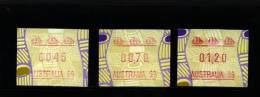 AUSTRALIA - 1999 FRAMAS  TIWI   AUSTRALIA 99   BUTTON SET (45c.-70c.-$1.20)  MINT NH - Vignette Di Affrancatura (ATM/Frama)