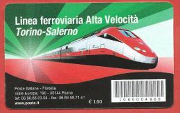 TESSERA FILATELICA ITALIA - 2010 - Completamento Della Linea Ferroviaria Ad Alta Velocità Torino-Salerno - 1946-.. Republiek