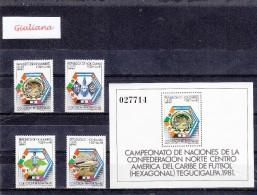 Rep. Honduras 1981 - Yt BF/31+A661/04**  Campionato Centro America Del Caribe Di Calcio