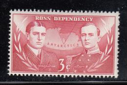 New Zealand - Ross Dependency MNH Scott #L6 3c Ernest H. Shackleton, Robert F. Scott - Dépendance De Ross (Nouvelle Zélande)