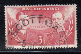 New Zealand - Ross Dependency Used Scott #L6 3c Ernest H. Shackleton, Robert F. Scott - Ross Dependency (New Zealand)