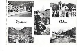 73  -  MOUTIERS   SALINS  -  L ' Isère  ,  La  Cathédrale  ,  Vue  Générale  ,  La  Piscine - Moutiers
