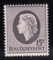 New Zealand - Ross Dependency MNH Scott #L8 15c Queen Elizabeth II - Dépendance De Ross (Nouvelle Zélande)