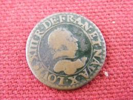 Monnaie Louis XIII 1615 Double Tournois - 987-1789 Monete Reali