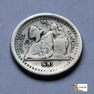 Guatemala - 1/2 Real - 1880 - Guatemala